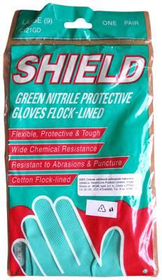 Rukavice zel.L(9) Nitrilové ochranné