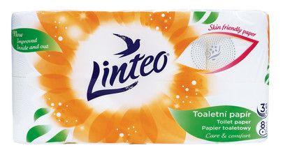 Linteo toaletní papír 3 vrství 8 rolí v balení Melitrade a. s.