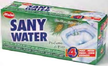 4ks Sanywater zel.toalette WC dlok závěs MADEL