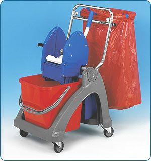 Plastový 1x25l vozík s pytlem na odp.70l