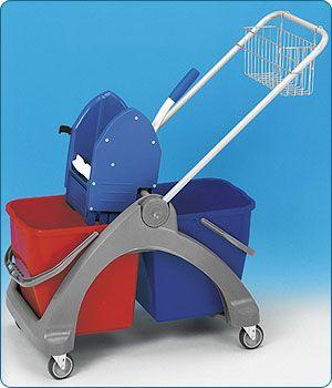 Plastový 2x25l (bez košíku) vozík