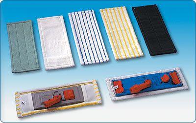 MIKROMOP 40cm kapsový bílo/modrý