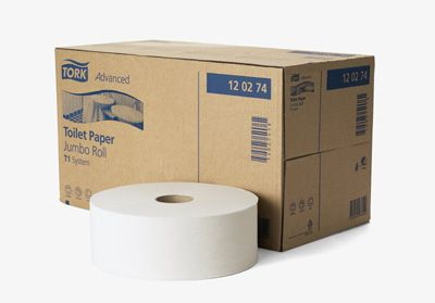 Toal.papír jumbo T1 2vrs.bílý 26cm 360m TORK