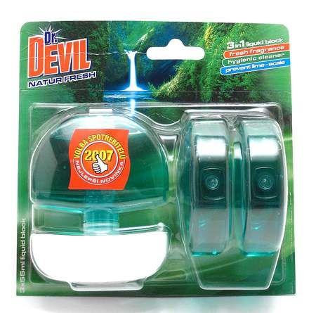 3x55ml zel.n.n.Dr.DEVIL 3in1 WC blok te.